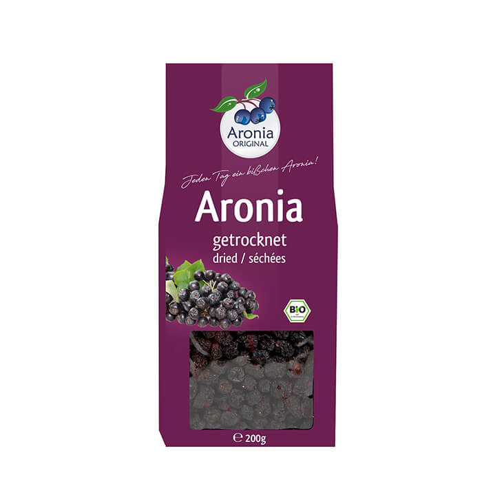 Aronia ORIGINAL organic dried Aronia berries distributed by J&J Aronia in Canada