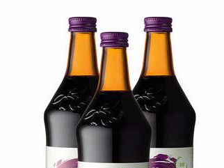 three Aronia juice bottles from Aronia ORIGINAL