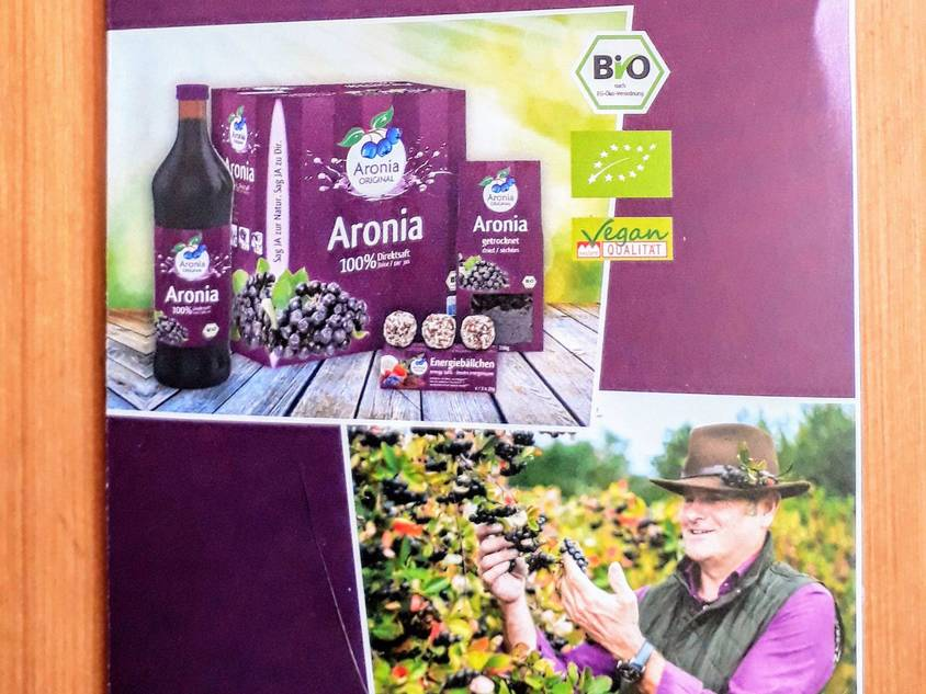 flyers and promo material of Aronia ORIGINAL