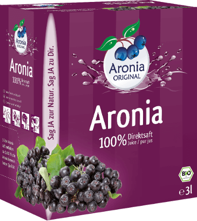 organic aronia berry juice 3 litre box