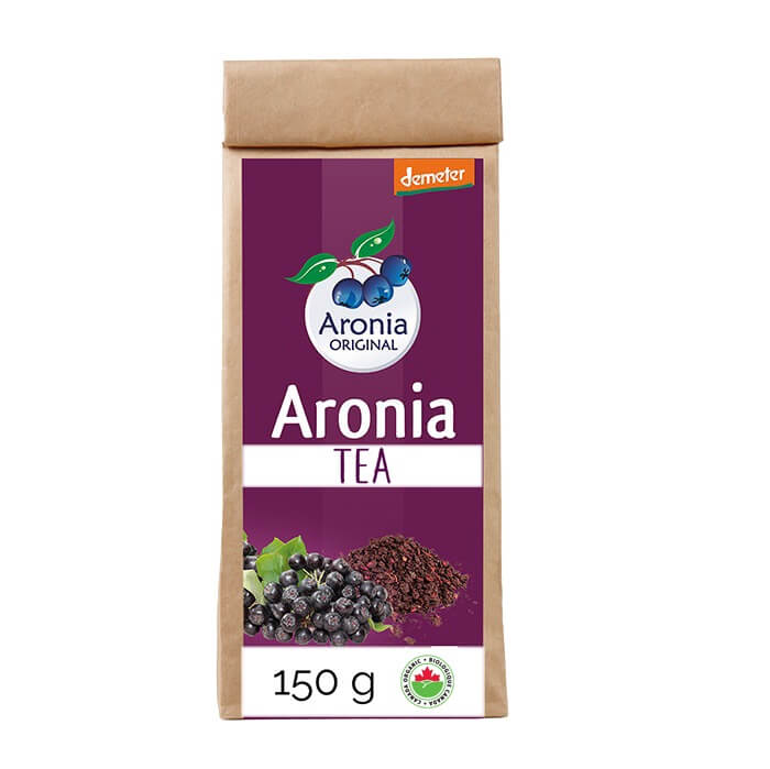 Aronia ORIGINAL Demeter organic Aronia berry tea distributed by J&J Aronia in Canada